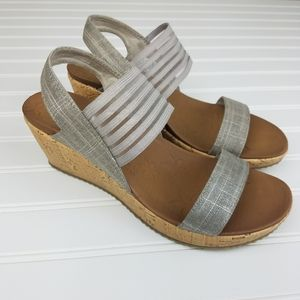 NEW Skechers Smitten Kitten Wedge Sandal Size 9
